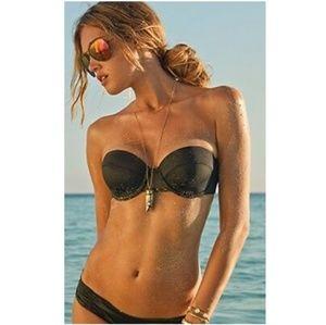 NWT L*Space Demi Wire Bandeau Bikini Top D Cup